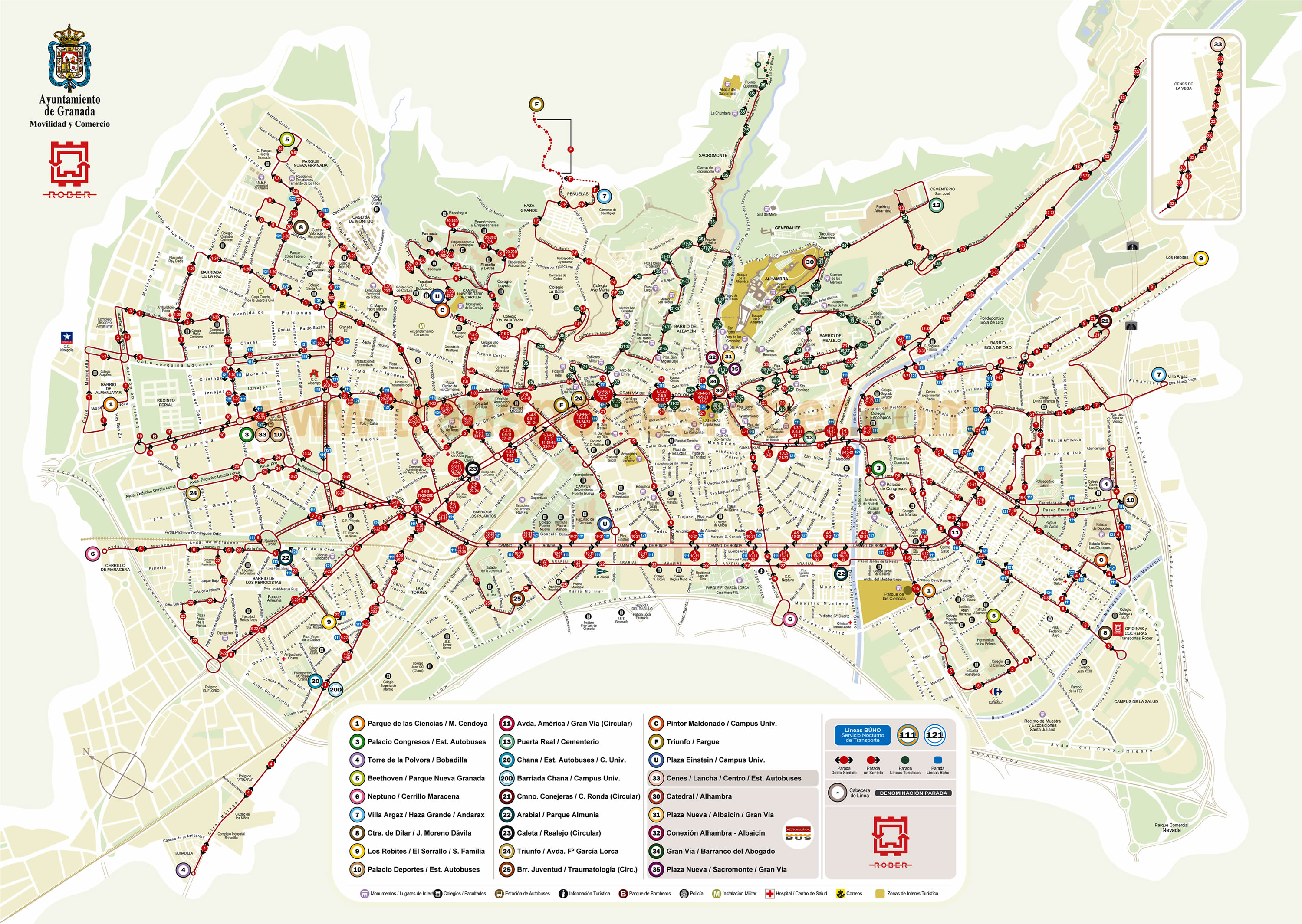 Alsa bus routes map
